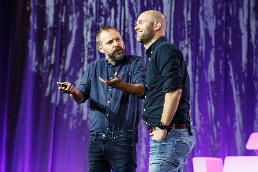 Bilde av to menn, Jørgensen og Pedersen